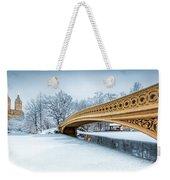 Winter Morning With Bow Bridge Weekender Tote Bag