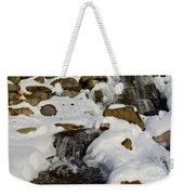 Winter Mountain Stream Weekender Tote Bag