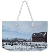Winter Museum Weekender Tote Bag