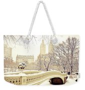 Winter - New York City - Central Park Weekender Tote Bag by Vivienne Gucwa
