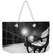 Winter Night Along The River Weekender Tote Bag