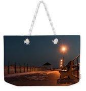 Winter Night Boardwalk Bench Seaside Nj  Weekender Tote Bag