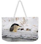 Winter Night Heron Weekender Tote Bag