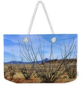 Winter Ocotillo Garden Weekender Tote Bag