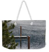 Winter On Lake Coeur D' Alene Weekender Tote Bag