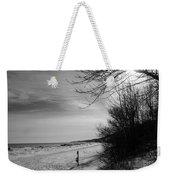 Winter On The Beach  Weekender Tote Bag