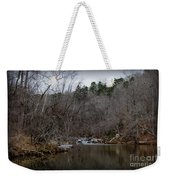 Winter On The Eno River At Fews Ford Weekender Tote Bag