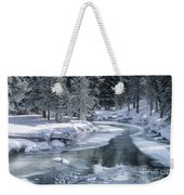 Winter On The Firehole River - Yellowstone National Park Weekender Tote Bag by Sandra Bronstein