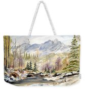 Winter On The River Weekender Tote Bag