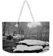 Winter On The Wissahickon Creek Weekender Tote Bag