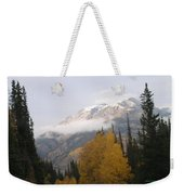 Winter Over Red Mountain Weekender Tote Bag