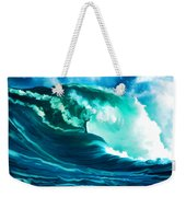 Winter Pacific Surf Weekender Tote Bag