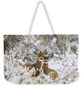 Winter Pair Weekender Tote Bag