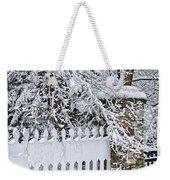 Winter Park Fence Weekender Tote Bag by Elena Elisseeva
