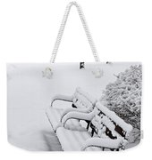 Winter Park With Benches Weekender Tote Bag by Elena Elisseeva