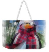 Winter Penguin Photo Art Weekender Tote Bag