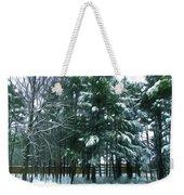 Winter Pine Tree  Weekender Tote Bag