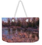 Winter Pond Landscape Weekender Tote Bag