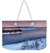 Winter Quiet And Colorful Weekender Tote Bag