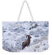 Winter Ram Weekender Tote Bag