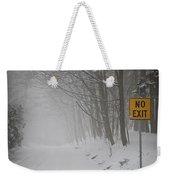 Winter Road During Snowfall I Weekender Tote Bag