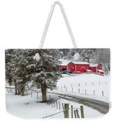 Winter Road Square Weekender Tote Bag by Bill Wakeley