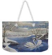 Winter Romance Weekender Tote Bag