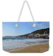 Winter Sand Beach Acadia Weekender Tote Bag