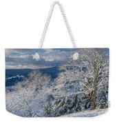 Winter Scene At Berry Summit Weekender Tote Bag