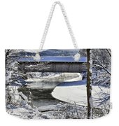 Winter Scene In Montgomery Weekender Tote Bag