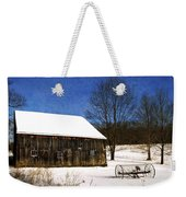 Winter Scenic Farm Weekender Tote Bag