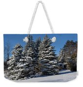 Winter Scenic Landscape Weekender Tote Bag
