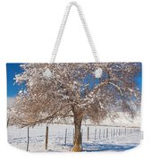 Winter Season On The Plains Portrait Weekender Tote Bag