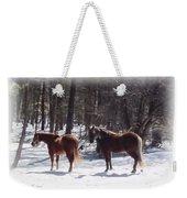 Winter Shadow Horses Weekender Tote Bag