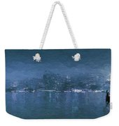 Winter Skyline Weekender Tote Bag
