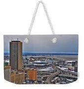 Winter Skyway Downtown Buffalo Ny Weekender Tote Bag