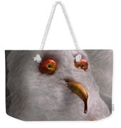 Winter - Snowman - What Are You Looking At Weekender Tote Bag by Mike Savad