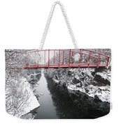 Winter Solitude Square Weekender Tote Bag by Bill Wakeley