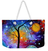 Winter Sparkle Original Madart Painting Weekender Tote Bag by Megan Duncanson