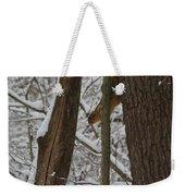 Winter Squirrel Weekender Tote Bag
