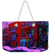 Winter Staircases Two Weekender Tote Bag