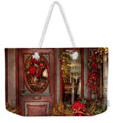 Winter - Store - Metuchen Nj - Dressed For The Holidays Weekender Tote Bag by Mike Savad