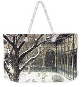 Winter Storm At The Cloisters 3 Weekender Tote Bag