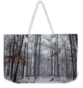 Winter Storm In The Forest Weekender Tote Bag