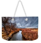 Winter Storm Over Owens River Weekender Tote Bag by Cat Connor