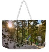 Winter Sun Flares Weekender Tote Bag