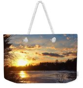 Winter Sundown Weekender Tote Bag