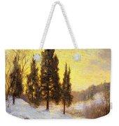 Winter Sundown Weekender Tote Bag