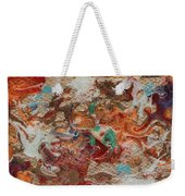 Winter Sunrise Abstract Painting Weekender Tote Bag by Julia Apostolova