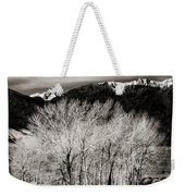 Winter Sunrise And Moonset Weekender Tote Bag